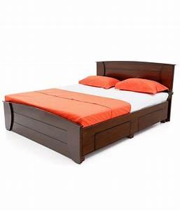 Looking Good Furniture Elegant Brown Bed With Storage ...