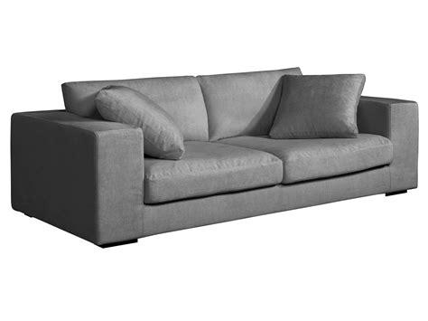 canape bultex canapé lounge 3 places en tissu confort bultex et plumes