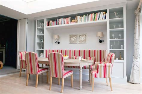table with built in l built in bench dining table dining room scandinavian with