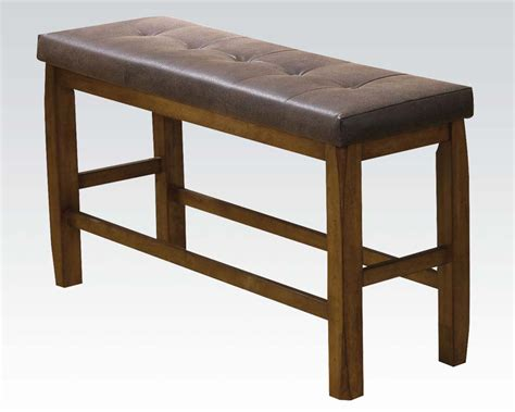 counter height bench counter height bench w storage morrison by acme furniture