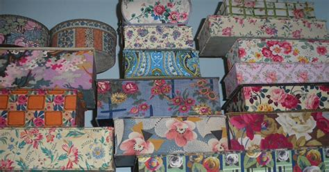 vintage maison pretty french fabric covered boxes