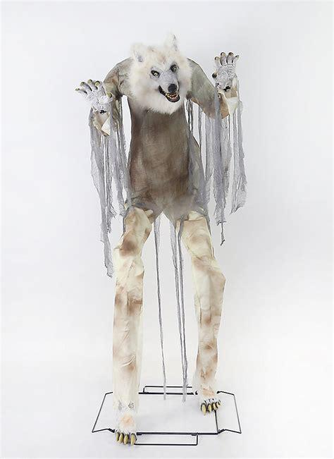 home accents halloween   towering creepy werewolf
