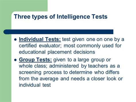 Test Intelligenze by Measures Of Intelligences Iq Ppt