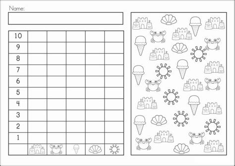 Summer Graph Worksheet  Visual Perception  Pinterest  Math, Kindergarten And Worksheets