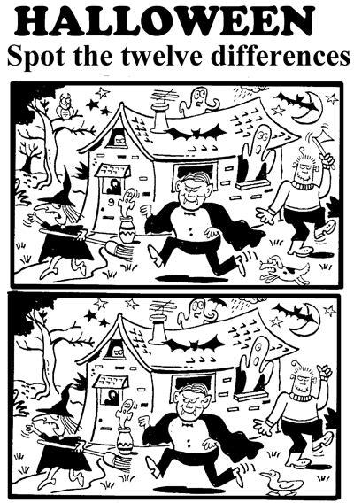 halloween spot  difference printable worksheet