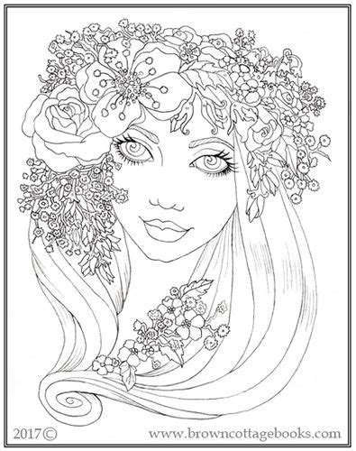 """Another coloring page from The """"Mythical Maidens Coloring"""