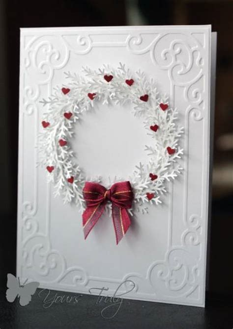 white wreath  yourstruly  splitcoaststampers