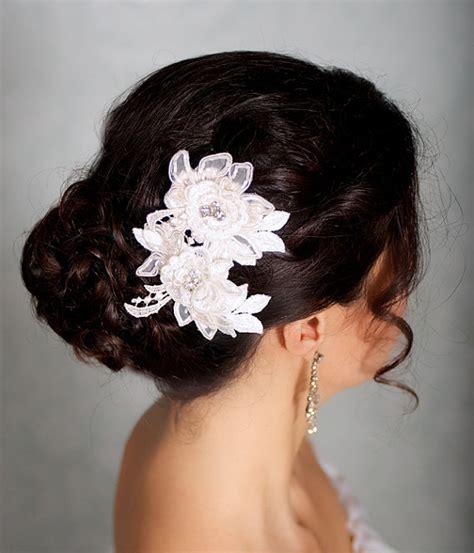 hair accessories aksesoris ivory hair flowers lace headpiece bridal hair flowers