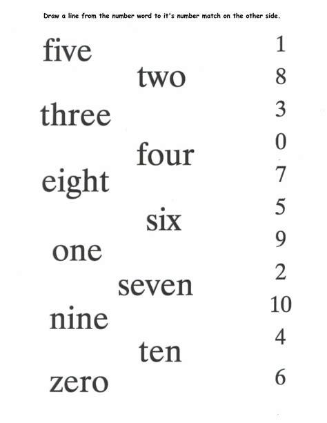 number words worksheets activity shelter