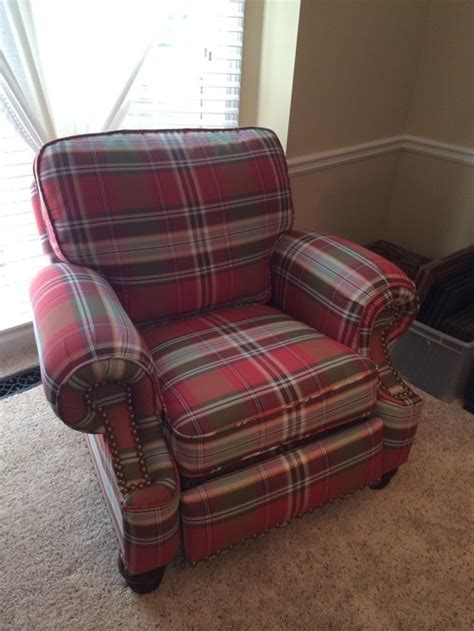 rug with plaid chairs