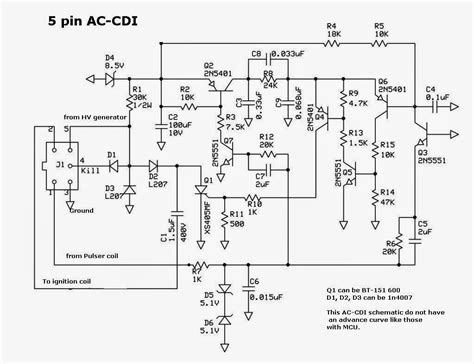4 Pin Cdi Ignition Wiring Diagram by Cdi Schematic Techy At Day At Noon And A