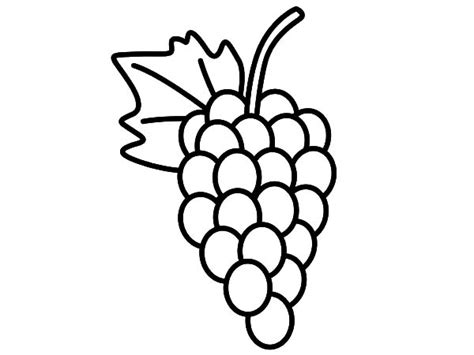 Delicious Fruit Grapes Coloring Pages