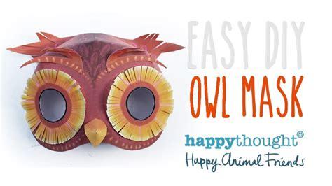 easy homemade owl mask template    owl