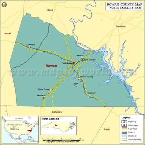 salisbury n c offender map rowan county map north carolina