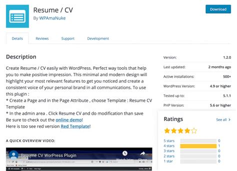 top 5 best resume plugins for 2019 compete themes