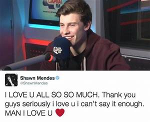 N'aww! We love you too, Shawn! - 12 Tweets That Got Fans ...