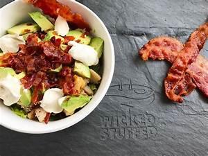 Easy Chicken, Bacon, Avocado Caesar Salad WickedStuffed