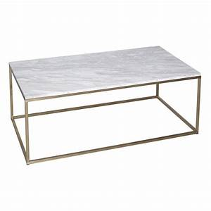 Buy white marble and gold rectangular coffee table from for Marble top coffee table rectangle