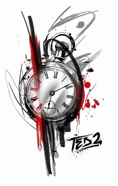 Tattoo Trash Polka Clock Tree Ted Vorlagen