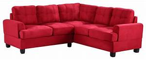 tufted sectional sofa red suede contemporary With red suede sectional sofa