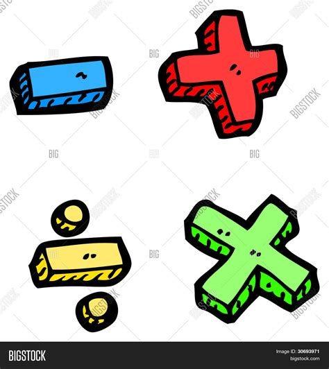Cartoon Math Symbols Image & Photo (Free Trial) Bigstock