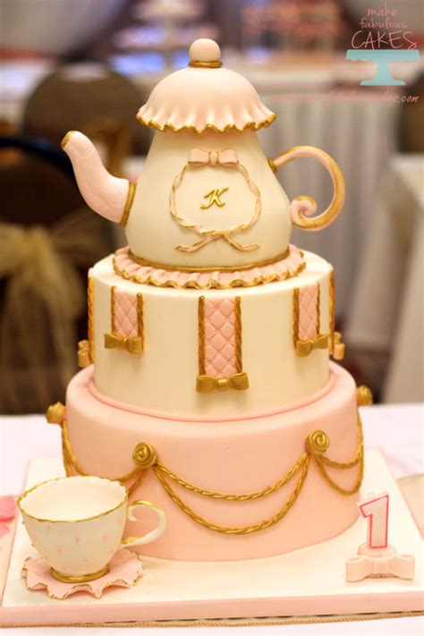 pink  gold princess tea party