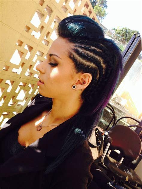 ideas  braided mohawk hairstyles  pinterest