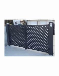 Portail 4 5 M Coulissant : portail coulissant aluminium mimizan 3 00 m 6 00 m ~ Edinachiropracticcenter.com Idées de Décoration