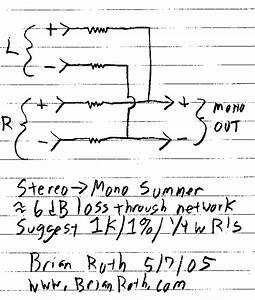 How To Wire A Mono Speaker To A Stereo Output