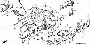 Honda Atv 2001 Oem Parts Diagram For Front Crankcase Cover  2