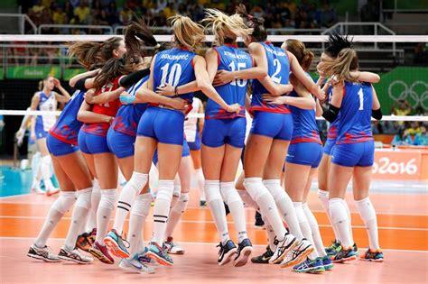 voleibol femenino lo mejor de rusia  serbia fotos