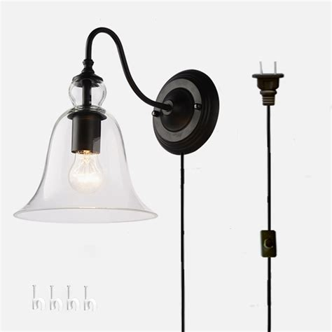 kiven wall l 1 light plug in bulb included wall sconce