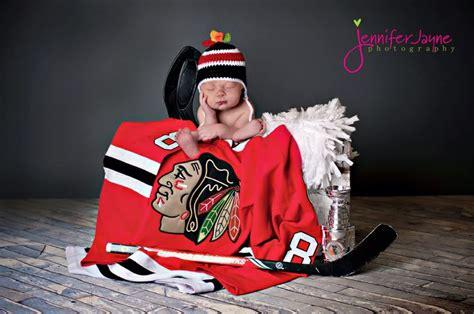 chicago blackhawks newborn baby photo session scored
