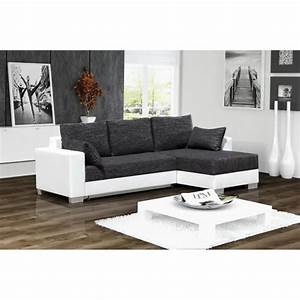 canape d39angle convertible 3 places en simili cuir blanc With canapé convertible 3 places simili cuir