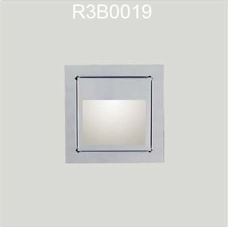 china led interior step light recessed wall l