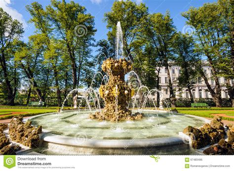 Fountain In The Summer Garden, St Petersburg Stock Photo