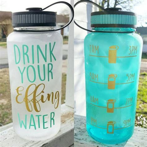clear inspirational motivate   water tracker bottle