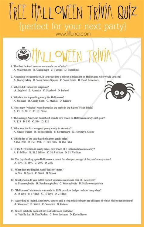 halloween trivia worksheets  games tip junkie