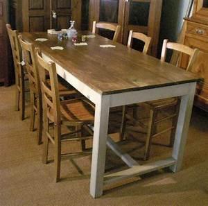 Table Ancienne De Ferme : belle grande table de ferme ancienne avec plateau en peuplier ~ Teatrodelosmanantiales.com Idées de Décoration