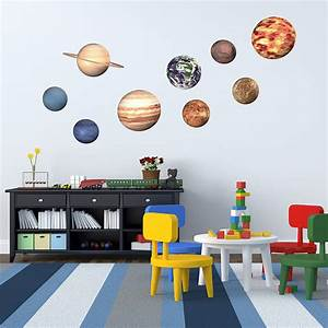 39space planet39 wall stickers by oakdene designs With space wall decals