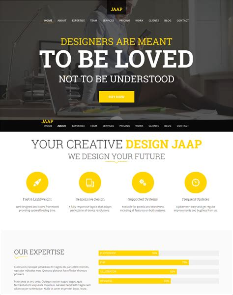 company onepage website templates 2016 17 onepage joomla themes templates design trends
