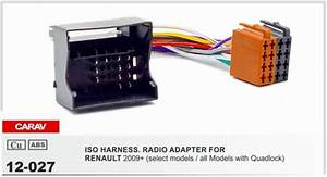 Carav 12 027 Iso Radio Adapter For Renault Fluence Megane