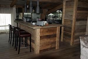 ilot de cuisine en vieux bois mzaolcom With cuisine en vieux bois