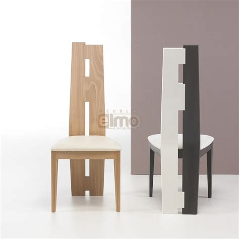 chaise de salle à manger design chaise salle à manger asymétrique design moderne bois