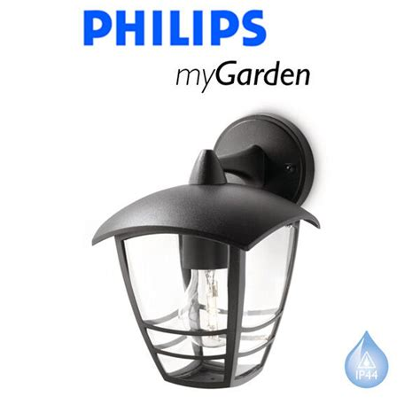 philips my garden creek wall down black outside lantern