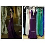Casino Royale Eva Backless Purple Dresses Movie