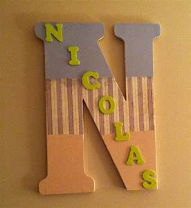 big letter from hobby lobby used card stock and mod podge With acrylic letters hobby lobby