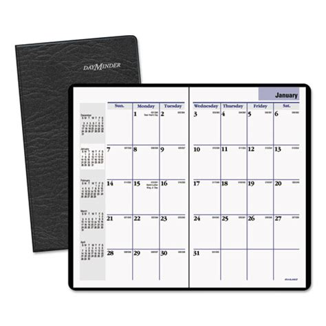 dayminder pocket sized monthly planner black