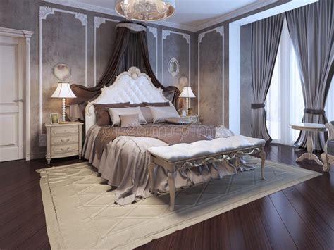 luxury interior  art deco bedroom stock illustration