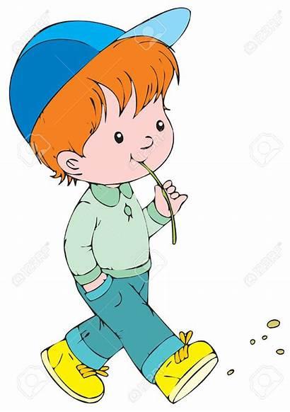 Walk Clipart Boy Animated Walking Clip Children
